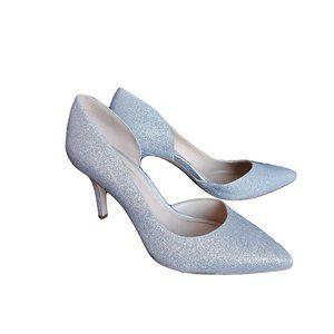 BCBGeneration Silver Sparkle Heels 7.5M